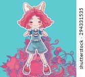 vector illustration of happy... | Shutterstock .eps vector #294331535