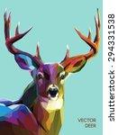 colorful deer illustration. ... | Shutterstock .eps vector #294331538