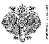 vintage graphic vector indian... | Shutterstock .eps vector #294333356