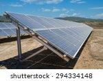 row of photovoltaic solar... | Shutterstock . vector #294334148
