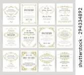set of templates with banners... | Shutterstock .eps vector #294334892