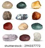 sea stones collection isolated...