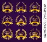 set of luxury gold labels ... | Shutterstock .eps vector #294339152