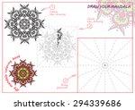 unique coloring book ... | Shutterstock .eps vector #294339686