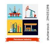 crude oil extraction  refining... | Shutterstock .eps vector #294351398