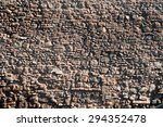 Old red roman wall bricks background texture wallpaper background horizontal