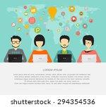 coworking  teamwork  creative... | Shutterstock .eps vector #294354536