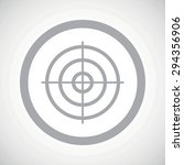 grey image of aim in circle  on ...