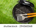 small round charcoal grill... | Shutterstock . vector #294360368