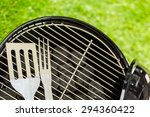 small round charcoal grill... | Shutterstock . vector #294360422