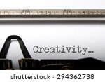 creativity printed on an old... | Shutterstock . vector #294362738