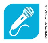 microphone icon. | Shutterstock .eps vector #294365642