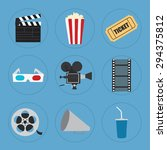 cinema icons set for use in... | Shutterstock .eps vector #294375812