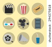 cinema icons set for use in... | Shutterstock .eps vector #294375818