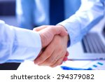 business people shaking hands ... | Shutterstock . vector #294379082