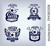 soccer club emblem  college... | Shutterstock .eps vector #294382508
