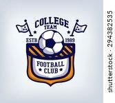 soccer club  team emblem ... | Shutterstock .eps vector #294382535