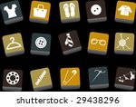vector icons pack   yellow... | Shutterstock .eps vector #29438296