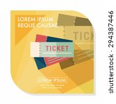 ticket flat icon with long... | Shutterstock .eps vector #294387446