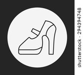 shoes line icon | Shutterstock .eps vector #294394748