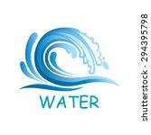 ocean blue wave falling down... | Shutterstock .eps vector #294395798