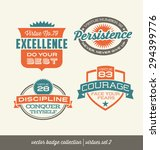 badge label collection with... | Shutterstock .eps vector #294399776