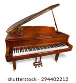 Piano  Antique  Old.