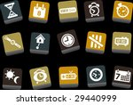 vector icons pack   yellow... | Shutterstock .eps vector #29440999