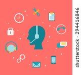 illustration concept of call... | Shutterstock .eps vector #294416846