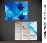 tri folder brochure   leaflet... | Shutterstock .eps vector #294418055