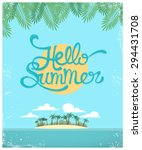 vector summer greeting card | Shutterstock .eps vector #294431708