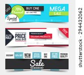 collection of sale discount... | Shutterstock .eps vector #294432062