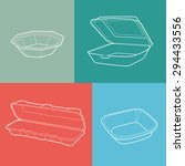foam box. empty plastic... | Shutterstock .eps vector #294433556