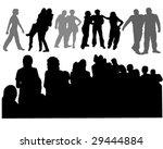 vector illustration of groups... | Shutterstock .eps vector #29444884