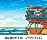 cartoon yellow auto rickshaw... | Shutterstock .eps vector #294448862