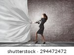 young pretty businesswoman... | Shutterstock . vector #294472472