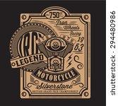 motorcycle piston silverstone... | Shutterstock .eps vector #294480986