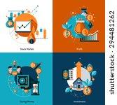investment design concept set... | Shutterstock .eps vector #294481262