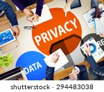 privacy data secure protection... | Shutterstock . vector #294483038
