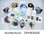 meeting communication planning... | Shutterstock . vector #294483608