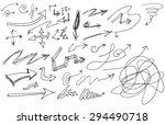 vector hand drawn arrows set... | Shutterstock .eps vector #294490718