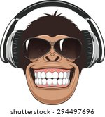 funny monkey with glasses | Shutterstock .eps vector #294497696