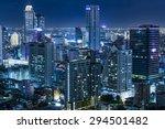 Aerial View Of Bangkok At...