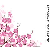 Branches With Pink Flowers...