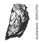 owl sign. monochromatic logo... | Shutterstock .eps vector #294512702