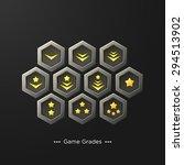 game interface ranks | Shutterstock .eps vector #294513902