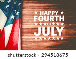 happy fourth of july against... | Shutterstock . vector #294518675