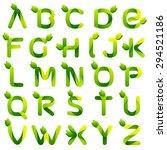 ecology english alphabet... | Shutterstock .eps vector #294521186