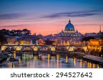 night view at st. peter's... | Shutterstock . vector #294527642