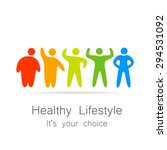 healthy lifestyle   template... | Shutterstock .eps vector #294531092